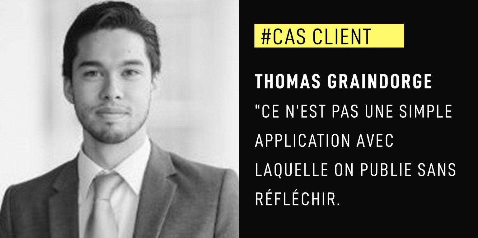 """Thomas Graindorge : """"Ce n'est pas une simple application avec laquelle on publie sans réfléchir."""""""