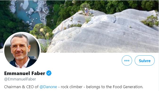 Dirigeant Emmanuel Faber, Twitter