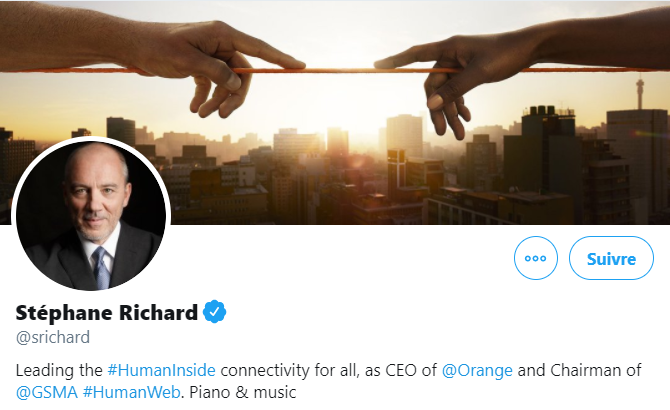 Dirigeant Stéphane Richard Twitter
