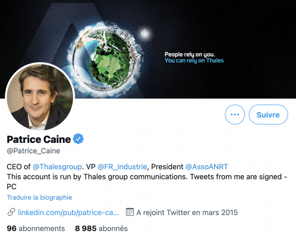 Patrice Caine Twitter